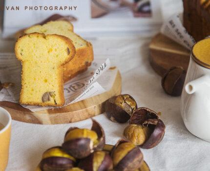 【北鼎烤箱食谱】糖酒栗子南瓜磅蛋糕